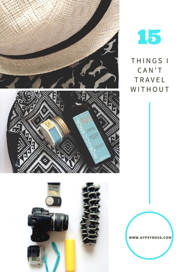 15 Things I Can't Travel Without | Gypsy Rova Blog